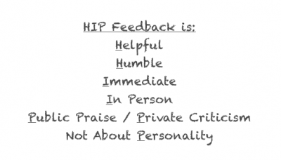 A HIP Approach To Feedback: How To Achieve Radical Candor