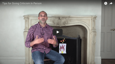 Video Tip: Radically Candid Criticism Is In Person