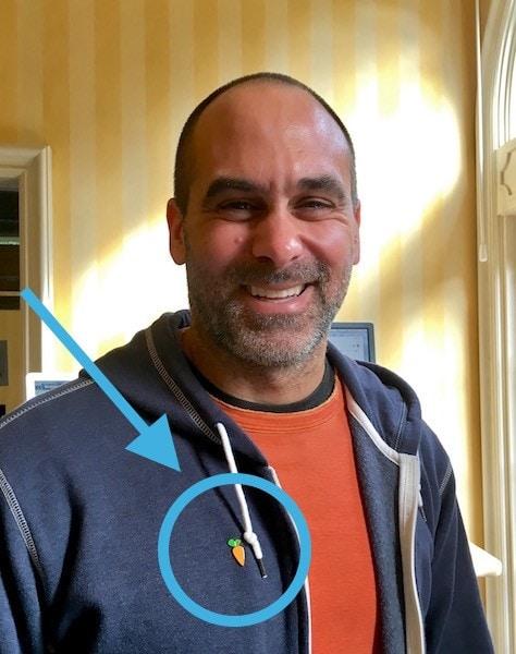 Russ Instacart Carrot Pin