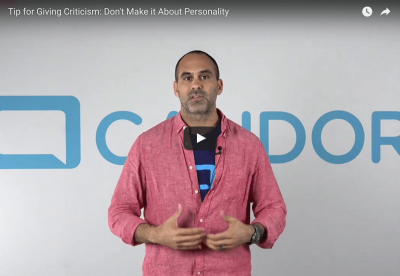 Video Tip: Radically Candid Criticism Is Not About Personality