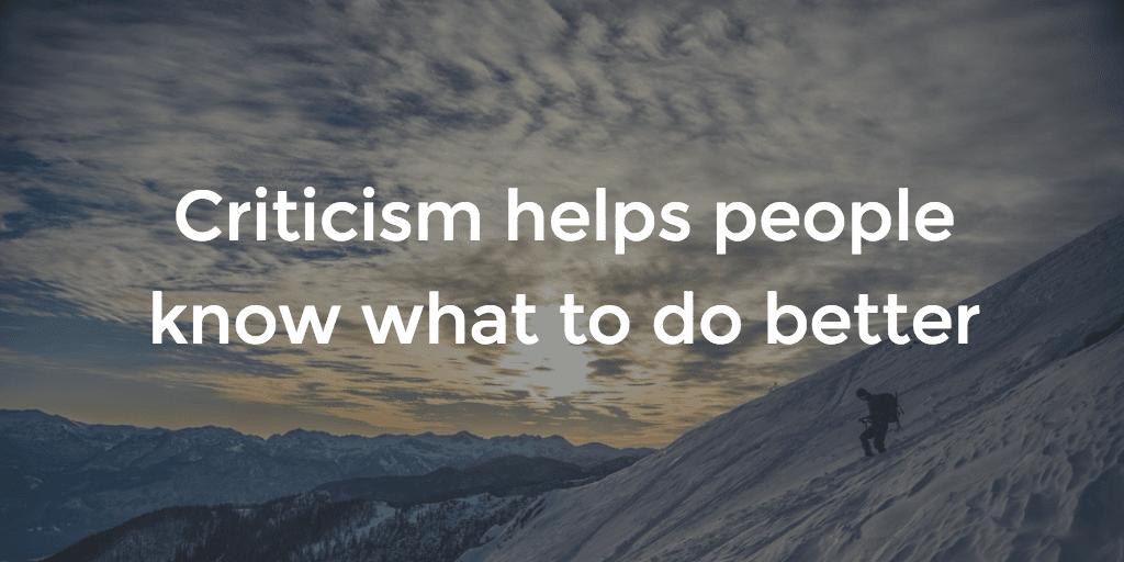 Criticism-Purpose